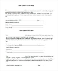 Photography Copyright Release Form Template Photo Forms