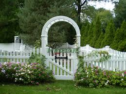 picket fence gate with arbor. Interstatevisions Picket Fence Gate With Arbor D