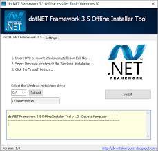 dotnet framework 3 5 offline