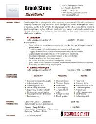resume example 2017 samples of receptionist resumes