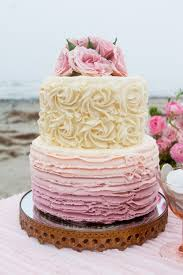Beach Wedding Ombre Rose Cake Vintage Wedding Cake Ideas Beach