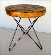 items similar to modern and rustic round side table from