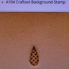 tandy leather leather crafting background stamp craftool a104 tandy 6104 00 new