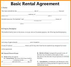 Simple Rental Lease Agreement Download Free Basic Rental Agreement Template Every Last