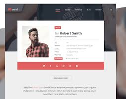 Profile Website Design Templates Best Free Resume Templates In Psd