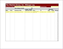 Printable Mileage Log Template Free – Willconway.co