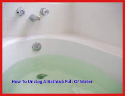 how to unclog a bathtub drain with a plunger clogged bathtub standing water