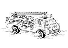 Fireman And Fire Truck Coloring Pages Unique Brandweerman Sam