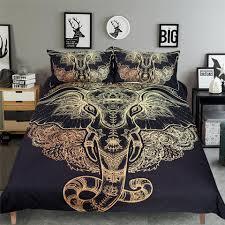 tribal elephant bedding sets boho mandala golden design ethnic indian ganesha duvet cover indian symbol bed set canada 2019 from shinelily