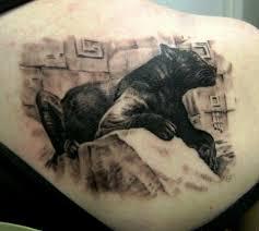 фото тату черная пантера лежащая на камне татуировки и эскизы