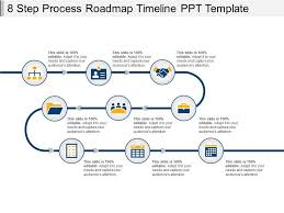 Power Point Time Line Template 8 Step Process Roadmap Timeline Ppt Template Powerpoint