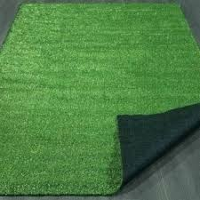 artificial turf rugby rug evergreen collection indoor outdoor green grass solid design area patio mat x