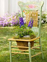 Terrace and Garden: Garden Chair Planters Decorating Ideas - Tables