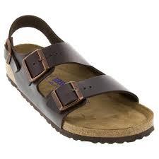 birkenstock milano brown sandals