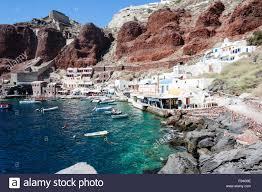 Amoudi Villas Ammoudi Harbour Oia Santorini Cyclades Stock Photos Ammoudi