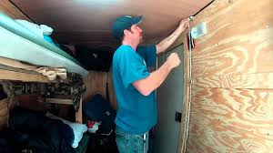 installing an extra light 6x10 enclosed trailer conversion project you