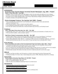 Journalism Resume Examples Letter Example
