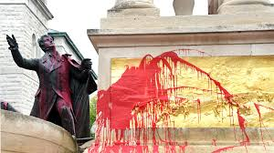 Image result for Vandals Deface Statue of National Anthem Author F.S. Key in Baltimore