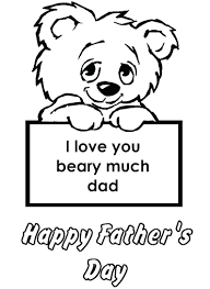 fathers day coloring pages free printable colouring for kids with and father s