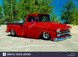 1958 Chevrolet Pickup Truck on pavement Stock Photo, Royalty Free ...