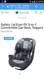 safety 1st 3 in 1 convertible car seat ever fit thermometer