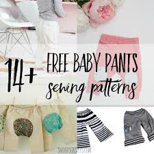 Baby Patterns Custom 48 Free Baby Pants Sewing Patterns Swoodson Says