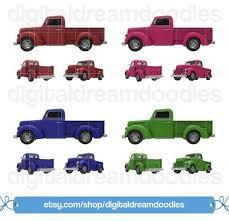 Truck Clipart, Pickup Truck Clip Art, Classic Vintage Truck Picture ...