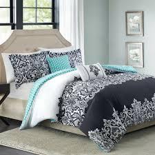 reversible comforter set 5 piece white