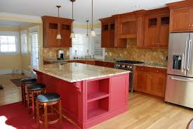 Red Cabinets In Kitchen Farmhouse Red Kitchen Cabinets Quicuacom
