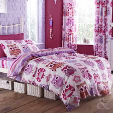 Next Childrens Bedrooms Bedding And Matching Curtains Catherine Lansfield Girls Owl Duvet
