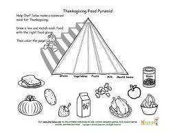 Small Picture Holidays 11 Kids Food Pyramid and Thanksgiving Food Matching and