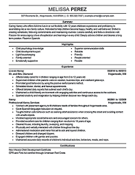 Nanny Resume Examples Templates Skills Experience Best Cv Example