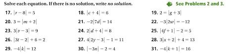 solving equations involving absolute value worksheet tessshlo