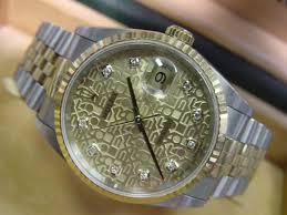 rolex datejust mens watch 18kt diamond dial 16233