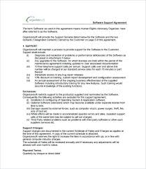 It Contract Template Software Support Agreement Download Contract