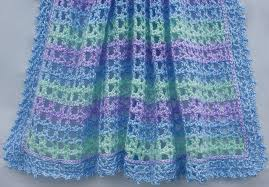 Crochet Baby Blanket Pattern Beauteous Ravelry Striped Lace Crochet Baby Blanket Pattern By Amy Solovay