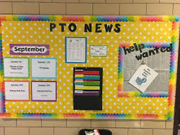Information Board Design This Is My First Bulletin Board As Pto President I Looked