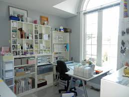 craft room lighting. interesting home office interior design for craft with bright light supported by natural lighting room