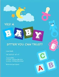 Sample Babysitting Flyer Free Babysitting Flyers Templates Ideas And Samples Sample Text