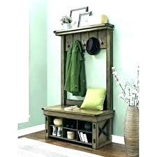 antique hall bench coat rack and hallway tree storage be equipped equi