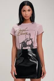 caruthers black patent vegan leather mini skirt