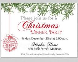 holiday party invitation template christmas eve dinner party invites templates google search