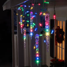 Gemmy Lightshow Christmas Lights 87-Count LED Shooting Star Icicle ...