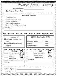 Parent Teacher Conference Forms Editable School Pinterest