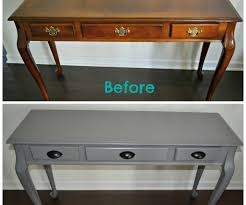large size of lovely after diy spray painted console how to update furniture with as