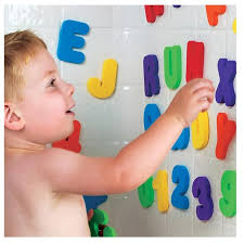 Water Shower Alphanumeric Paste Baby Bath Letters and Numbers Foam Toy Puzzle 2 3 years old 36pcs/set A-Z 0-9