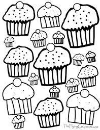 Small Picture Free Coloring Pages for Adults and Kids Cupcake Lover free