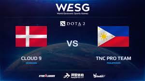 en cloud 9 vs tnc pro team game 1 final 2016 wesg dota 2 grand