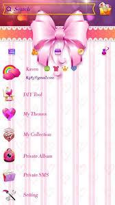 go sms pro sweet heart theme apk screenshot
