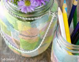 Decorate Glass Jar Tissue Paper Stained Glass Jars Crafts Unleashed 98